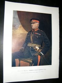 Lieut-Gen Thomas Kelly-Kerry 1900 Military Portrait Print. Boer War